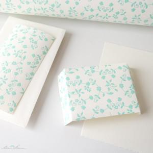 Schoenherum Letterpresspapier mintgruen
