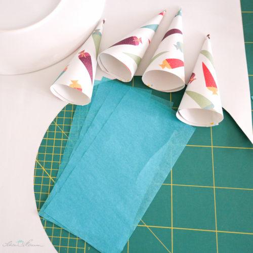 4 Seidenpapierstreifen vorbereiten