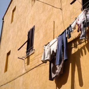 Wäscheleine in Italien. Unterwegs mit SchönHerum.