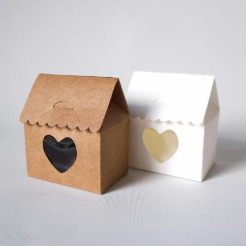 Geschenkschachtel, Haus mit Herz