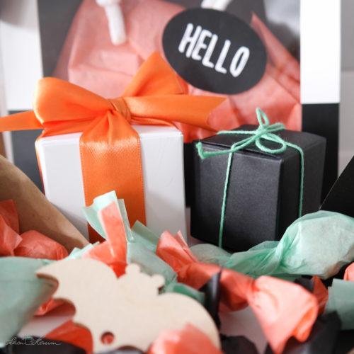 Geschenkverpackungen für Gastgeschenke und Mitbringsel