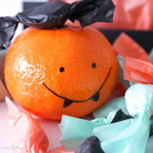 Gefährliche Halloween Mandarine