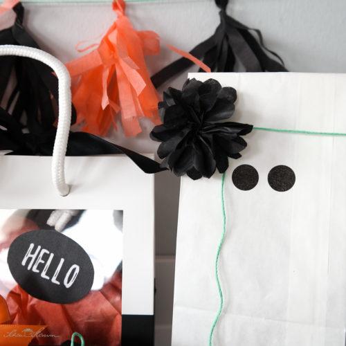 Geschenkverpackung zu Halloween