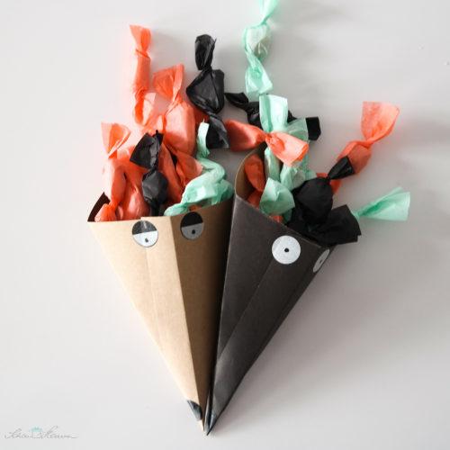 Papiertüte selber machen für Bonbons