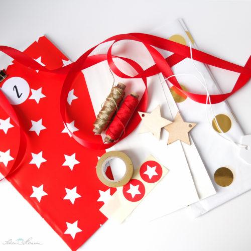 Verpackungsmaterial für einen klassischen Adventskalender