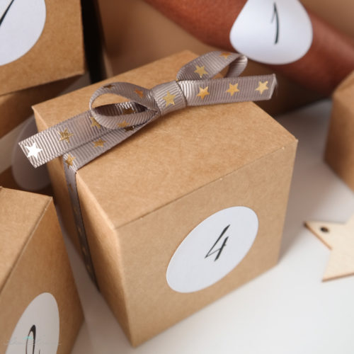 Adventskalender Inspiration Kraftpapier Schachteln
