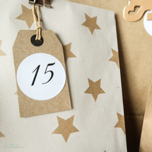 Adventskalender Inspiration Kraftpapier und Sterne gehen immer
