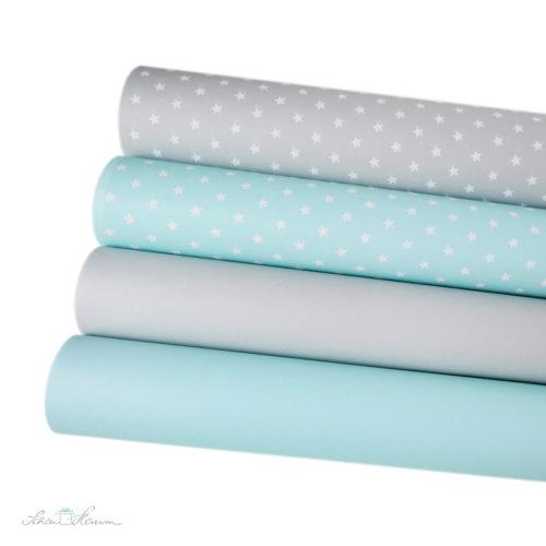 geschenkpapier-schoenherum-einfarbig-sterne-mintgruen-grau