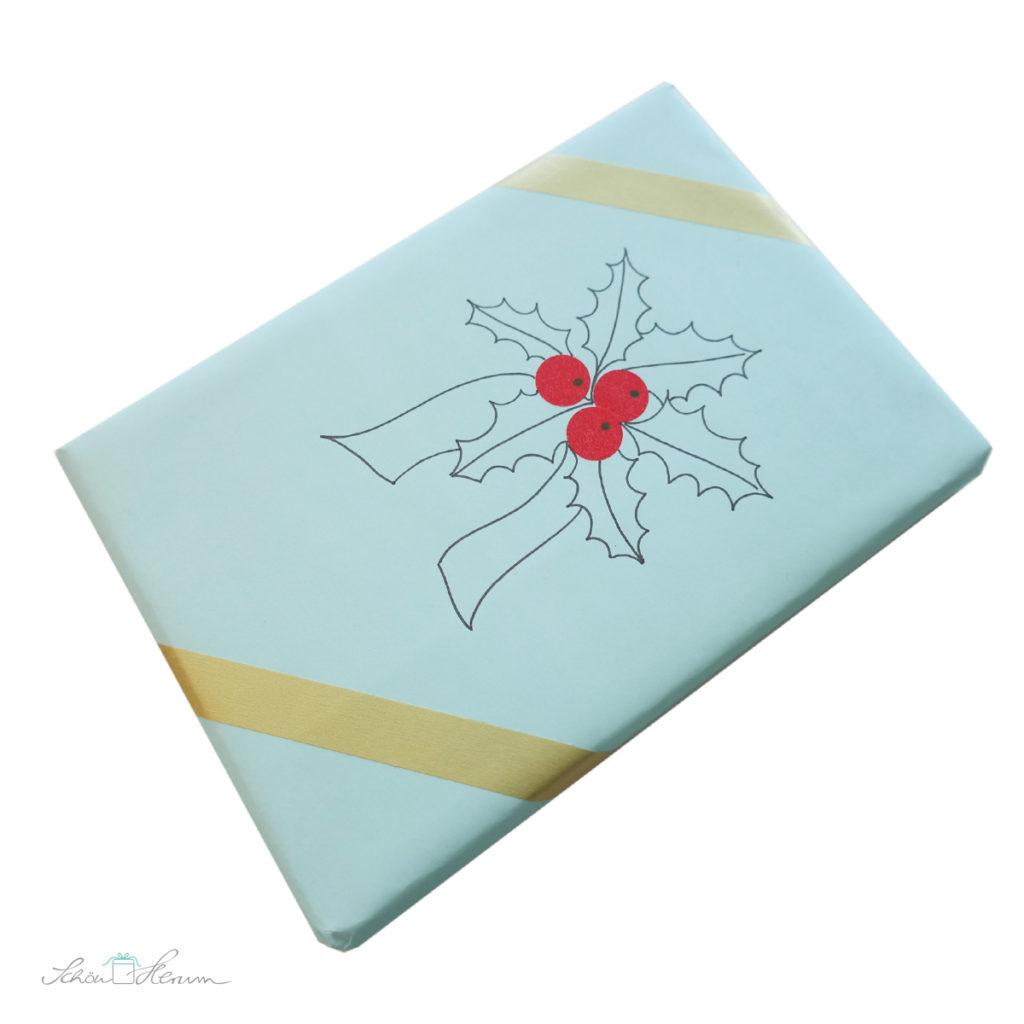 Geschenkverpackung selber gestalten mit Ilex