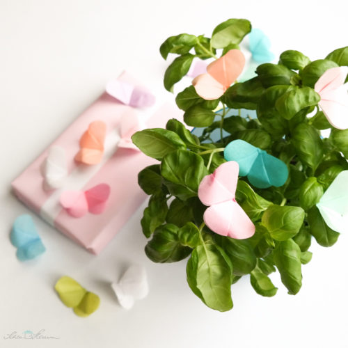 seidenzarte Origami Schmetterlinge