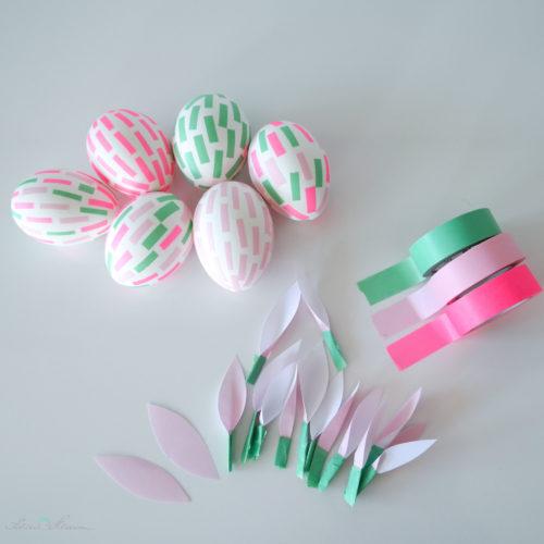 Masking Tape Ostereier und Blätter