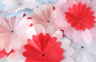 Seidenpapier Blumenstrauss zum Geburtstag