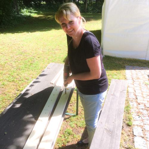 DIY Papierleiter bauen, selbst ist die Frau