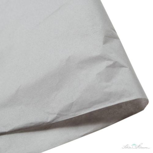 Seidenpapier Mausgrau