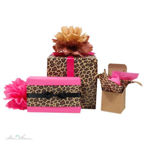 Geschenkverpackungen, Leopardenprint