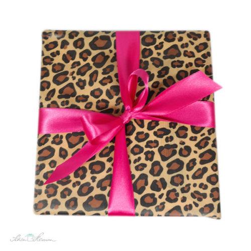 Geschenkverpackung, Leopard und Pink