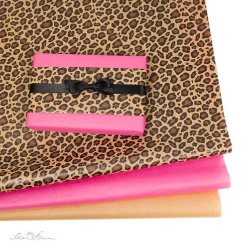 Seidenpapier Muster und einfarbig, Leopard
