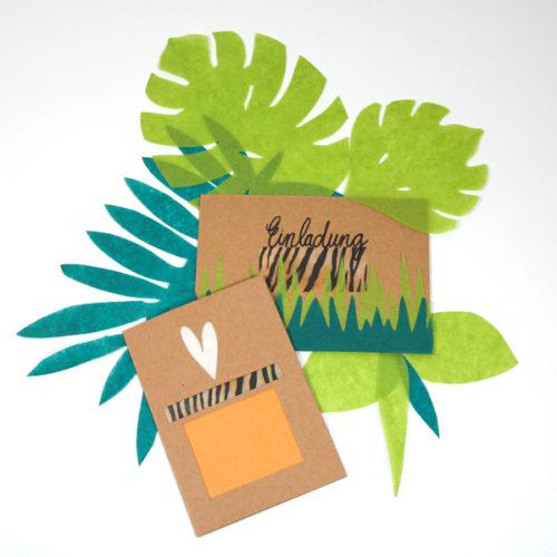 Karte und Umschlag gestalten