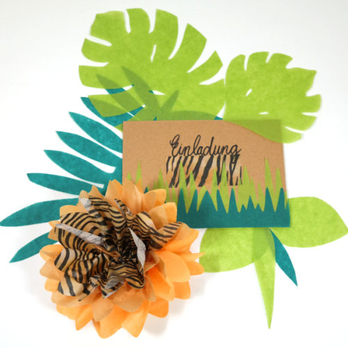 Blätter aus Seidenpapier zur Dekoration