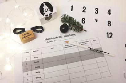 Adventskalender Planung