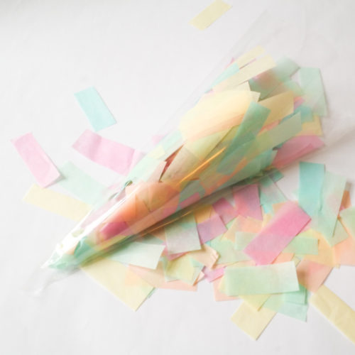 XXL Einhorn Konfetti aus Seidenpapier
