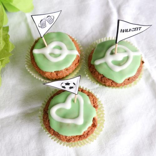 Muffins mit Joghurt zum Fussballspiel