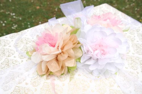 Geldgeschenk zur Hochzeit mit Seidenpapier Seerosen
