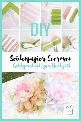 DIY Seidenpapier Seerosen, Geldgeschenk zur Hochzeit