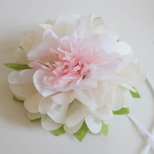 Seerose aus Seidenpapier